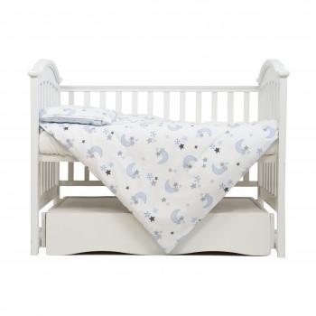 Сменная постель 3 эл Twins Comfort Soft (фланель) 3010-TS-04, Stars blue, белый/голубой