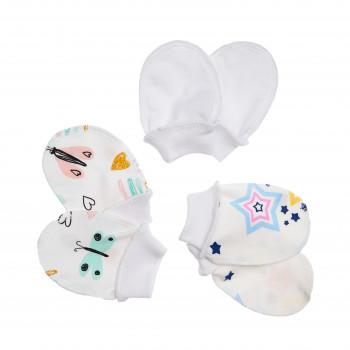Царапки Twins для новорожденных трикотаж (0-3 мес) 3 пары W135-ЦT-20, multicolor, мульцвет, 0-3 мес
