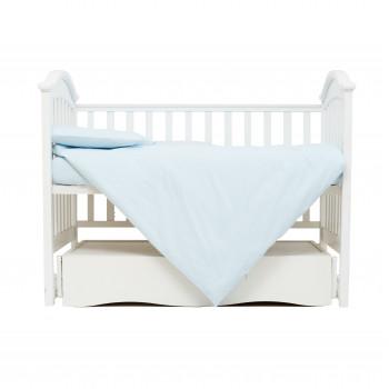 Сменная постель 3 эл Twins Organic (бязь премиум) 3021-TO-04, blue, голубой