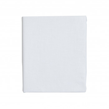 Простыня на резинке Twins 100x75 бязь 6011-PT75-01, white, белый