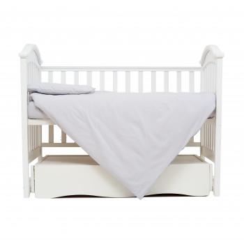 Сменная постель 3 эл Twins Organic (бязь премиум) 3021-TO-10, grey, серый