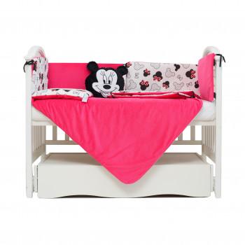 Постельный комплект 6 эл Twins Dolce Insta Mikki 4075-D-512-08, black/pink, черный/розовый