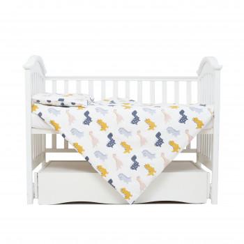 Сменная постель 3 эл Twins Comfort line 3054-C-10, Динозаврик, серый
