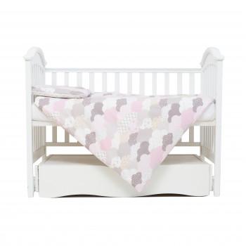 Сменная постель 3 эл Twins Comfort line 3054-C-02, Тучки, беж/розовый
