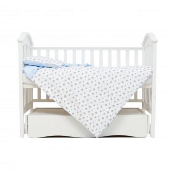 Сменная постель 3 эл Twins Romantic Spring collection 3024-RS-401, Flower Power, голубой