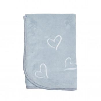 Плед Twins велюр Love (вишивка) 80х80 1410-TL-10-01, grey/white, серый/белый