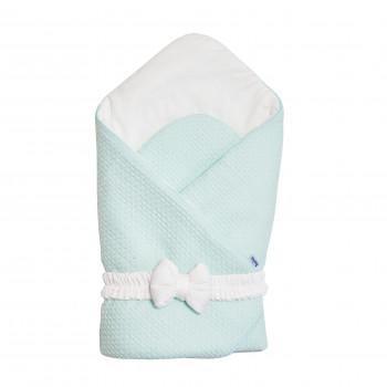Конверт - плед с бантиком Twins Cotton 1418-TС-14, mint, м