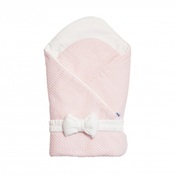 Конверт - плед c бантиком Twins Cotton 1418-TС-24, powder pink, пудра