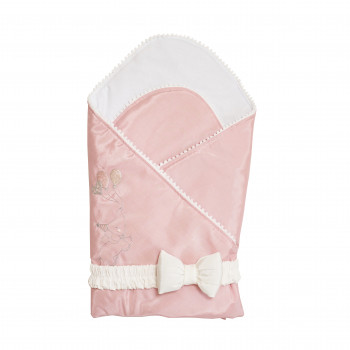 Набор на выписку Twins Holiday (плед + бантик) 1419-TH-24, powder pink, пудра