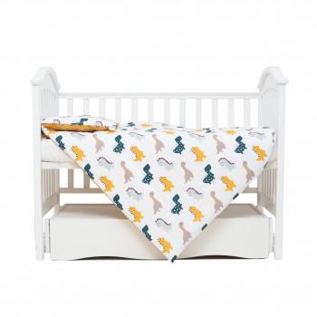 Сменная постель 3 ел Twins Comfort line 3054-C-05, Динозаврик, желтый