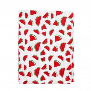 Пеленка Twins муслиновая 110х75 цвета в ассортименте/ 1610-TPM-К20, Арбузик, белый / красный