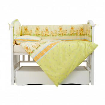 Бампер Twins Comfort 2051-C-027, Каченята зелені, зелений