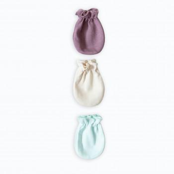 Царапки Caramel интерлок (3  шт) mix, мультицвет, для новорожденных