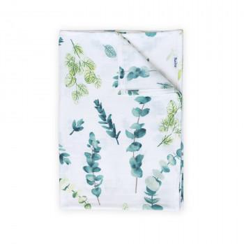 Пеленка Twins муслиновая 110х75 цвета в ассортименте/ 1610-TPM-06, Веточка, белый/зеленый
