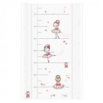 Пеленальная доска Cebababy 50x80 Basic line W-210-090-101, Прима балерина белая, белый / розовый