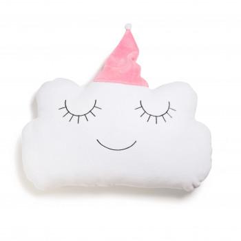 Бампер - подушка Twins Cloud 7099-DC-08, white/pink, белый/розовый
