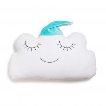 Бампер - подушка Twins Cloud 7099-DC-14, white/mint, белый/мятный