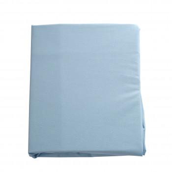 Простыня на резинке Twins 120x60 бязь organic 6010-TO-04, blue, голубой