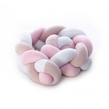 Бампер - косичка Twins 3-х прядна 170 см 2020 K3-170-08, pink, розовый