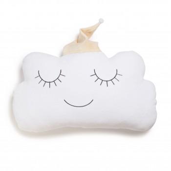 Бампер - подушка Twins Cloud 7099-DC-02, white/beige, белый/беж