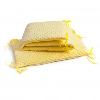 Бампер Twins Premium Minky  2030-TM-05, yellow, жовтий