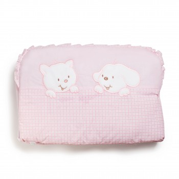 Бампер Twins Limited 2099-TL-004, Dog & cat pink, розовый