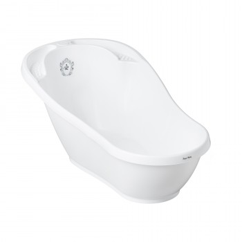 Ванная Tega RL-004 Royal baby 92 см термо, со сливом RL-004-103-C, white / black, белый