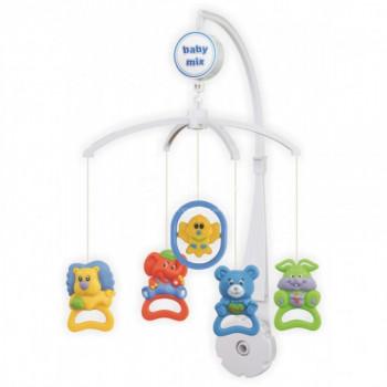 Мобиль Baby Mix пластиковый механический SK / 98001 Зверюшки погремушки