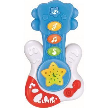 Пластиковая музыкальная Гитара Baby Mix PL-419750 голубого цвета