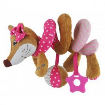 Плюшевая спираль Baby Mix Лиса STK-17511P, pink, розовый
