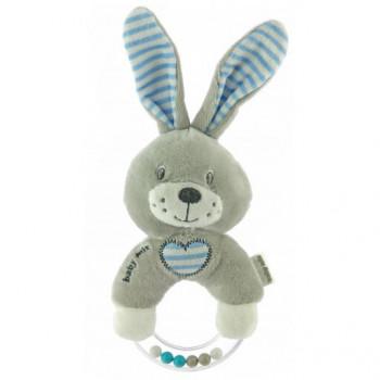 Плюшевая погремушка Baby Mix STK-19643R Кролик STK-19643BR, blue, синий