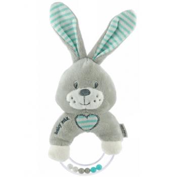 Плюшевая погремушка Baby Mix STK-19643R Кролик STK-19643MR, mint, м