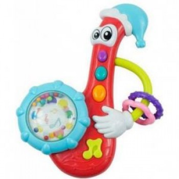 Игрушка пластиковая музыкальная Baby Mix KP-0882 Саксофон KP-0882, mint, мультиколир