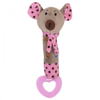 Плюшевая игрушка для руки Baby Mix STK-16058 Мышка STK-16058P, pink, рожевий