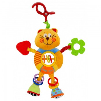 Плюшевая подвеска с вибро Baby Mix TE-8562-24C, Котик, желтый
