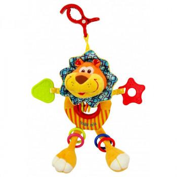 Плюшевая подвеска с вибро Baby Mix TE-8562-24L, Лев, желтый