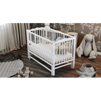 Кровать Дубок Радуга / без ящика белый, белый