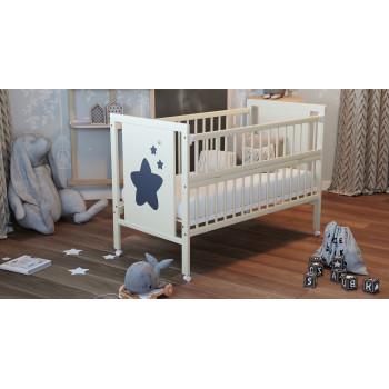 Кровать Дубок Звездочка без ящика 9800-DZ-02, слоновая кость, бежевый