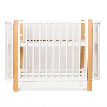 Кровать Twins Luno L100-LU-01, бело/буковый, белый/беж