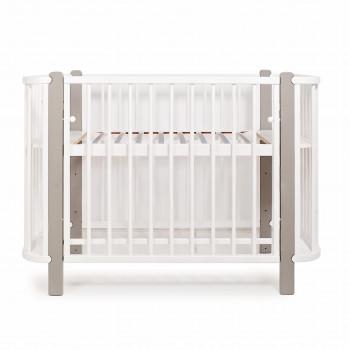 Кровать Twins Luno L100-LU-02, бело/серый, белый/серый