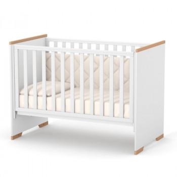Кровать Верес ЛД9 Сиетл без колес без ящика 09.3.1.37.15, бело/буковый, белый/беж