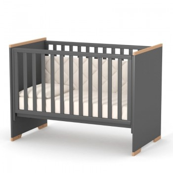 Кровать Верес ЛД9 Сиетл без колес без ящика 09.3.1.37.16, темно-серый, черный/буковый