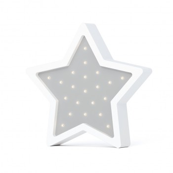 Ночник Sabo Звездочка N01lg1, light grey, светло серый