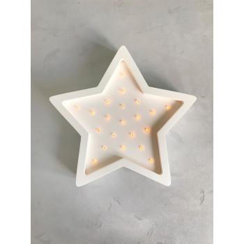 Ночник Sabo Звездочка N01wh1, white, белый
