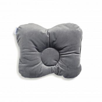 Подушка ортопедическая Twins Бабочка вельвет 1304-Vel-10 grey, серый