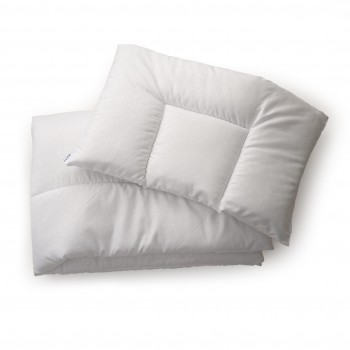 Одеяло и подушка Twins 120х90 хлопкопон 1600-184-01, white, белый