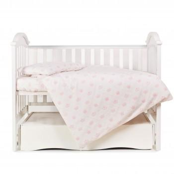 Сменная постель 3 эл Twins Comfort Soft (фланель) 3010-TS-08Q, Queen pink, белый/розовый