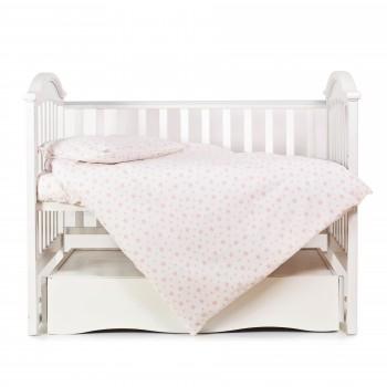 Сменная постель 3 эл Twins Comfort Soft (фланель) 3010-TS-08, Stars pink, белый/розовый