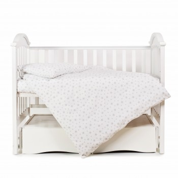 Сменная постель 3 эл Twins Comfort Soft (фланель) 3010-TS-10, Starlet grey, белый/серый