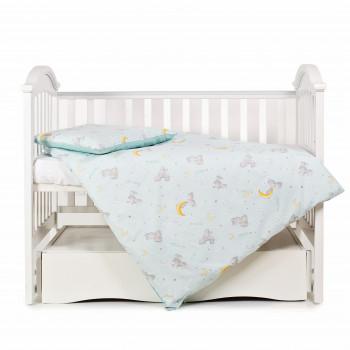 Сменная постель 3 эл Twins Premium Glamour Limited 3064-PGNEWZ-014, mint, зайчики и месяц мятный